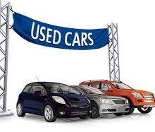 used cars for sale on display