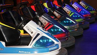 different colors of bumper cars