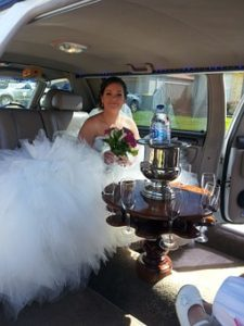 bride in limo service