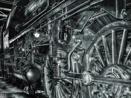 diesel powered engine ofa train
